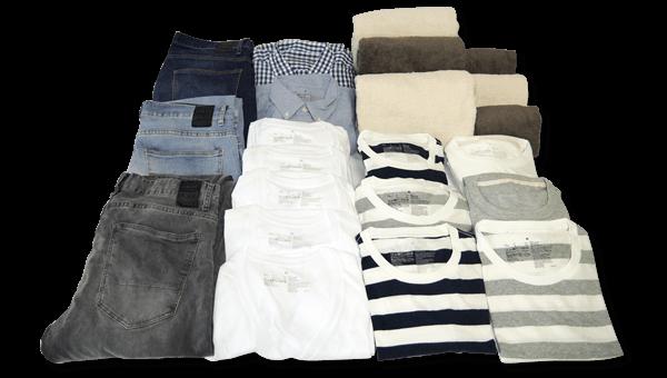 洗濯代行デリバリーバックに入る量の目安単身者の場合